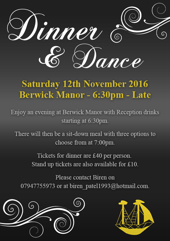 Dinner and dance Poster 12.11.16