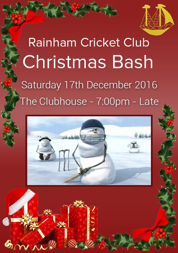 Rainham CC - Christmas Bash-17.12.16