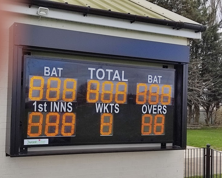 New Electronic Scoreboard